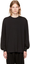 Alexander Wang Black Long Sleeve High Twist T-Shirt