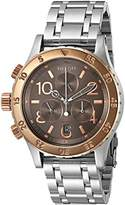 Nixon Women's A4042215-00 38-20 Chrono Analog Display Japanese Quartz Silver Watch