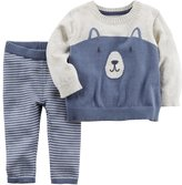 Carter's Baby Boy Little Bear Sweater & Bottoms Set