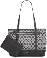 Nine West Signature Jacquard Tote with Wristlet