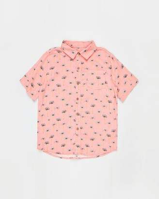 Cotton On Boy's Pink Printed Shirts - Resort Short Sleeve Shirt - Teens - Size 10 YRS at The Iconic