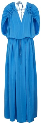 Stella McCartney Monica blue silk-blend maxi dress