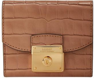 Lauren Ralph Lauren 432802922007 Heritage Lock Croc Wallet