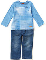 7 For All Mankind Baby Boys 12-24 Months Color Block Long-Sleeve Tee & Denim Jeans Set