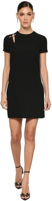 Versace Safety Pin Crepe Cady Mini Dress