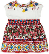 Dolce & Gabbana Appliquéd Mambo-Print Cotton Dress