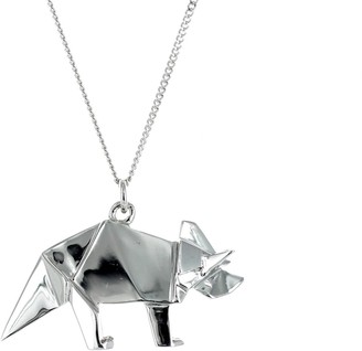 Origami Jewellery Triceratop Necklace Silver