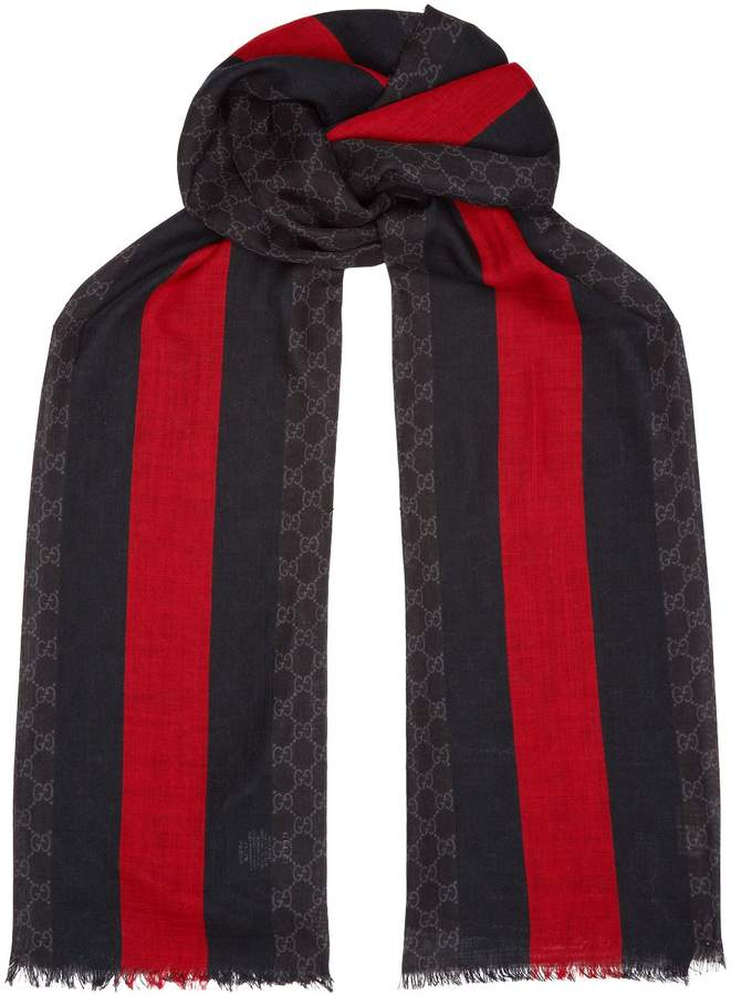 Gucci Lightweight Web Stripe Scarf