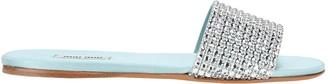 Miu Miu Crystal Embellished Slides