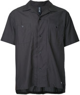 Factotum open collar short sleeve shirt - men - Cotton/Lyocell - 44