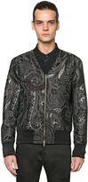 Etro Silk Blend Jacquard Bomber Jacket