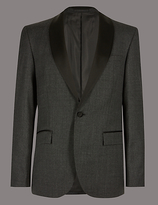 Autograph Charcoal Tailored Fit Italian Wool Jacket