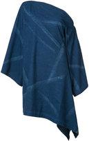 Yohji Yamamoto asymmetric denim dress - women - Cotton - 1