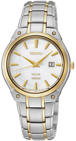 Seiko Women's Solar Sports Bracelet Strap Watch, Silver/Gold