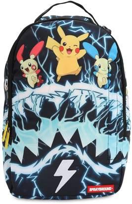 Pokemon Sprayground SHARK PRINTED CANVAS BACKPACK