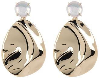 Carolee Iris Gold Plated Disc Freshwater Pearl Drop Earrings