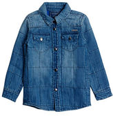 Guess Top Stich Detailed Denim Shirt
