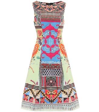 Etro Printed stretch-cotton dress