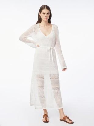 Frame Deep V Sweater Dress