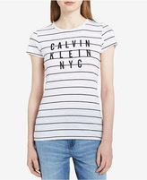 Calvin Klein Jeans Striped Graphic T-Shirt