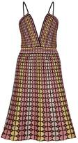 M Missoni Circle-intarsia Fine-knit Dress