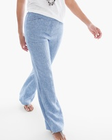 Chico's Linen Wide-Leg Pants in Vivid Blue