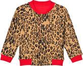 Mini Rodini Beige Leopard Reversible Sweat Jacket
