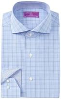 Lorenzo Uomo Plaid Trim Fit Dress Shirt