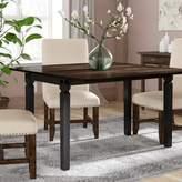 Marchan Drop Leaf Solid Wood Dining Table Gracie Oaks Base Color: Black