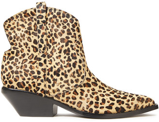 Sigerson Morrison Tacy Leopard-print Calf Hair Ankle Boots