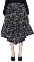 Rosie Assoulin Fil coupé basketweave flared skirt