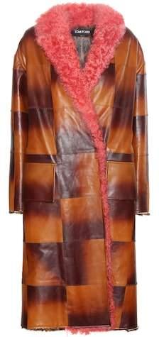 Tom Ford Fur-trimmed leather coat