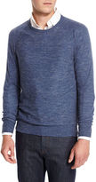 Neiman Marcus Wool-Linen Athletic Sweater