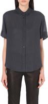 The Kooples Semi-sheer twill shirt