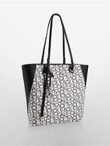 Calvin Klein Kira Jacquard North/South Shopper Tote