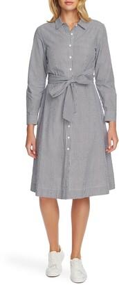 Court & Rowe Tie Waist Long Sleeve Shirtdress