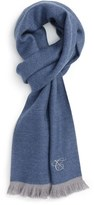 Canali Men's Double Face Wool Scarf