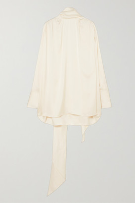 The Row Haree Oversized Silk-satin Blouse - Off-white