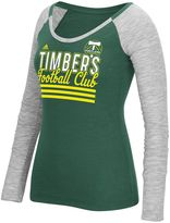 adidas Women's Portland Timbers Stack Striped Tee