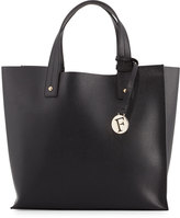 Furla Musa Medium Leather Tote Bag, Onyx