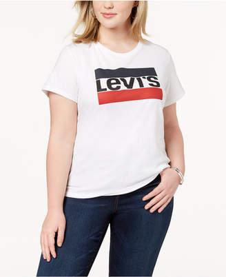 Levi's Trendy Plus Size Cotton Logo T-Shirt