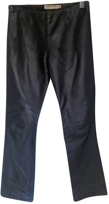 Chevignon Black Leather Trousers for Women