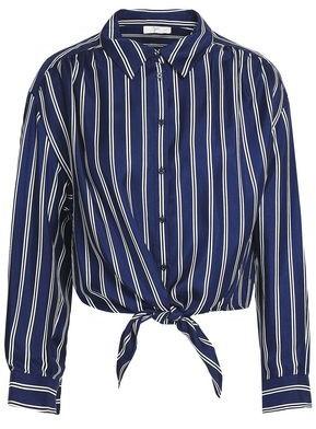 Joie Striped Silk-twill Shirt