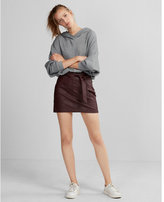 Express Minus the) leather sash waist mini skirt