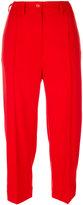 MM6 MAISON MARGIELA cropped tailored trousers - women - Polyester/Spandex/Elastane/Viscose/Virgin Wool - 42
