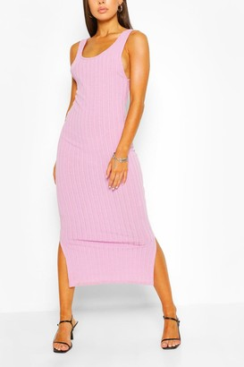 boohoo Scoop Back Rib Maxi Dress