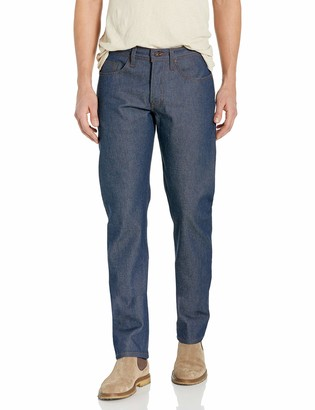 Naked & Famous Denim Men's Weird Guy Tapered Fit Jean in Natural Indigo Selvedge 28