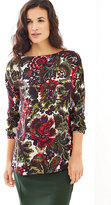 J. Jill Winter Bouquets Boat-Neck Top