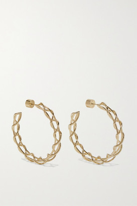 Jennifer Fisher Baby Lace Up Gold-plated Hoop Earrings - one size