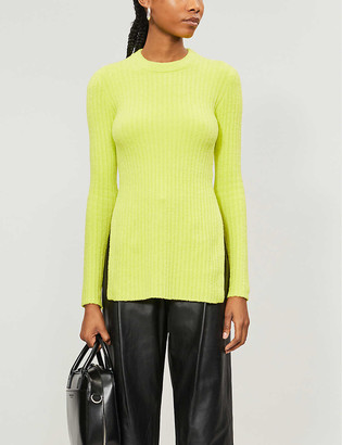 Topshop Split-side relaxed-fit chenille jumper